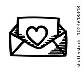 message love doodle icon   mail | Shutterstock .eps vector #1024618348