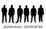 isolated  silhouette of men... | Shutterstock .eps vector #1024618768