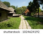 typical wooden house of romania  | Shutterstock . vector #1024624192