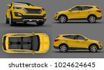 set compact city crossover... | Shutterstock . vector #1024624645