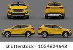 set compact city crossover... | Shutterstock . vector #1024624648