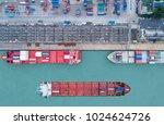 shipping cargo to harbor... | Shutterstock . vector #1024624726