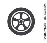 car wheel. illustration on... | Shutterstock .eps vector #1024631326