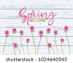 vintage spring floral... | Shutterstock .eps vector #1024640545