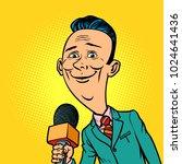 kind smiling reporter... | Shutterstock .eps vector #1024641436