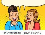 joyful girlfriends women laugh. ...   Shutterstock .eps vector #1024641442