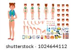 woman in swimsuit. animated... | Shutterstock . vector #1024644112