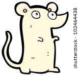 cartoon cute white mouse | Shutterstock . vector #102464438