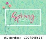lettering spring welcome.sale...   Shutterstock .eps vector #1024645615