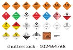 hazardous materials   hazmat... | Shutterstock .eps vector #102464768