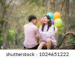 a boyfriend and girlfriend... | Shutterstock . vector #1024651222