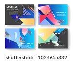 original presentation templates....   Shutterstock .eps vector #1024655332