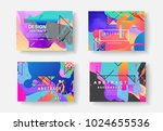 original presentation templates.... | Shutterstock .eps vector #1024655536