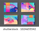 original presentation templates.... | Shutterstock .eps vector #1024655542