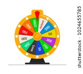 wheel of fortune lottery luck... | Shutterstock .eps vector #1024655785