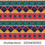 hand drawn ethnic tribal... | Shutterstock .eps vector #1024656502