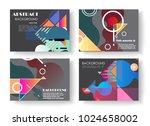 original presentation templates.... | Shutterstock .eps vector #1024658002