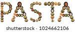 pasta alphabet italian pasta on ...   Shutterstock . vector #1024662106
