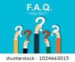 human hands holding question... | Shutterstock .eps vector #1024663015