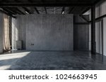 an empty  abandoned industrial... | Shutterstock . vector #1024663945