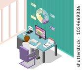 online trading isometric... | Shutterstock .eps vector #1024669336