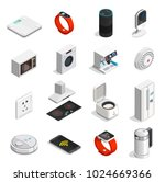 internet of things set of... | Shutterstock .eps vector #1024669366