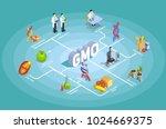 genetically modified organisms... | Shutterstock .eps vector #1024669375