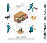 animal control agency service... | Shutterstock .eps vector #1024669402