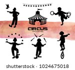vector illustration. clowns ... | Shutterstock .eps vector #1024675018