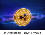 crypto currency. block chain.... | Shutterstock .eps vector #1024679095