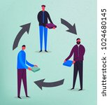 vector business concept... | Shutterstock .eps vector #1024680145
