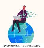 vector business concept... | Shutterstock .eps vector #1024682392