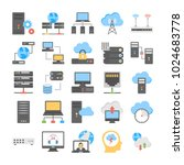 web hosting and cloud computing ... | Shutterstock .eps vector #1024683778