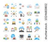 cloud technology and cloud... | Shutterstock .eps vector #1024683802