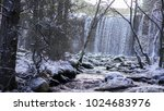 snowy landscape with river and...   Shutterstock . vector #1024683976