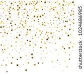 gold stars. confetti... | Shutterstock .eps vector #1024686985