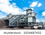 coal crusher is mining... | Shutterstock . vector #1024687432