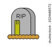 Zombie And Grave. Gravestone...