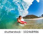 boogie boarder surfing amazing... | Shutterstock . vector #102468986