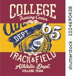 college track and field... | Shutterstock .eps vector #1024690438