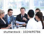 businessman and his business... | Shutterstock . vector #1024690786