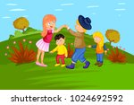 ringa ringa roses  kids english ... | Shutterstock .eps vector #1024692592