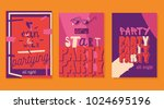 party flyers   cards. | Shutterstock . vector #1024695196