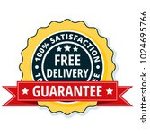 free delivery guarantee label... | Shutterstock .eps vector #1024695766