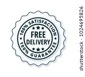 free delivery guarantee label... | Shutterstock .eps vector #1024695826