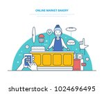online market bakery. order...   Shutterstock .eps vector #1024696495