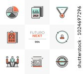 semi flat icons set of business ... | Shutterstock .eps vector #1024697296