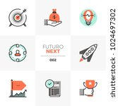 semi flat icons set of company... | Shutterstock .eps vector #1024697302