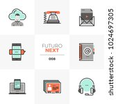 modern flat icons set of... | Shutterstock .eps vector #1024697305