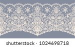 horizontally seamless gray lace ... | Shutterstock .eps vector #1024698718